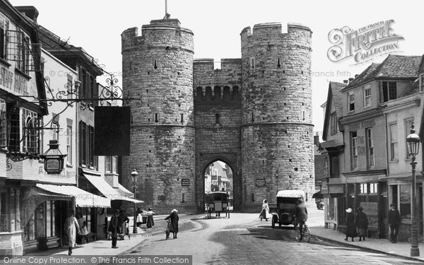 Canterbury West Gate And St Dunstan 39 S Street 1921