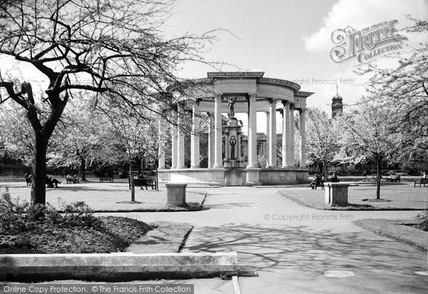 Cardiff, The War Memorial c.1950