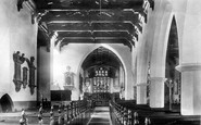 Carmarthen, Church Interior 1898