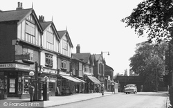 Cheadle Hulme, Station Road c1955