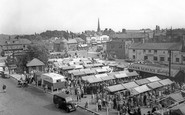 Chester Le Street, the Market Place c1955