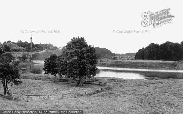 Coldstream, The Monument And Tweed Bridge c.1950