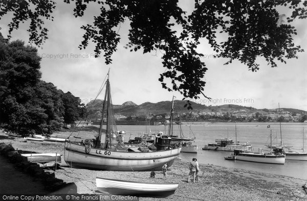 Photo of Conwy, Marine Walk, the Harbour c1955