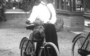 Cookham, Woman Cyclist 1899