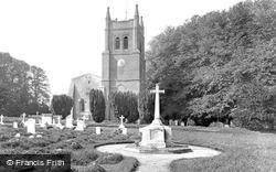 Crondall, All Saints Church and War Memorial 1930