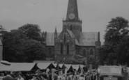 Darlington, Church And Market Place c.1955