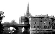 Darlington, St Cuthbert's Church And Skerne Bridge 1893