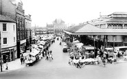 Darlington, The Market Place c.1965