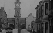 Darlington, Victoria Road And The Clock Tower 1903
