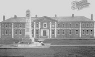 Darlington, War Memorial And New Hospital c.1928