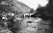 Drewsteignton, Fingle Bridge c1960