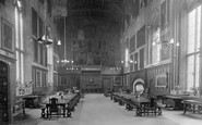Durham, the Castle Great Hall 1921