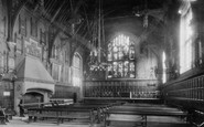 Durham, the Town Hall Interior 1918