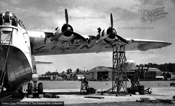 East Cowes, Saunders Roe Seaplane Base c.1955