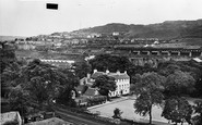 Ebbw Vale, View From Childrens Park c.1955