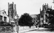 Ely, Cathedral, West Tower And Lantern c.1878