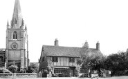 Ely, Cromwell House And St Mary's Church c.1955
