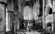 Ely, The Cathedral Choir Looking West 1891