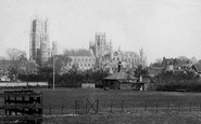 Ely, The Cathedral From Cricket Field 1891