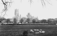 Ely, The Cathedral From The Meadows 1898