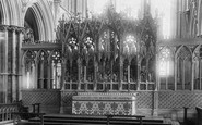 Ely, The Cathedral, The Reredos 1898