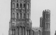 Ely, The  Cathedral, West Front 1891