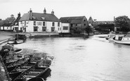 Ely, the River Ouse and Cutter Inn c1960