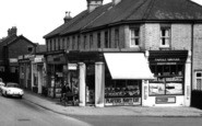 Farnborough, Shops In Peabody Road c.1965