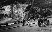 Flamborough, Tourists At The North Landing c.1932