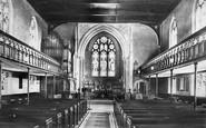 Frimley, Church Interior 1909