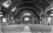 Frimley, St Pauls Church Interior 1909