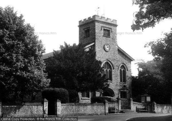 Frimley, St Peter's Church c.1955