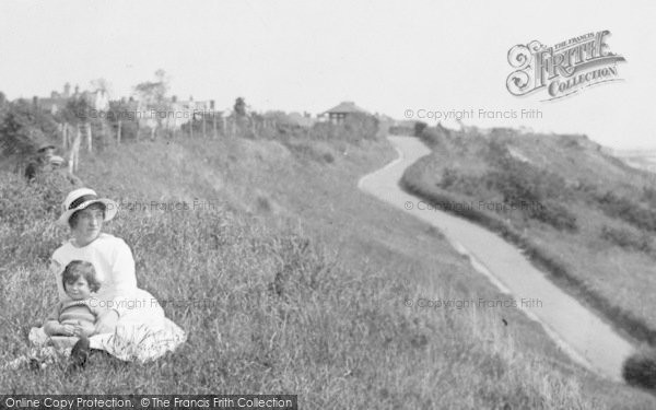 Frinton-on-Sea, Mother And A Child On The Grass 1921