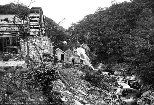 Ganllwyd, Mawddach Falls And Mill 1888