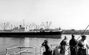 Gravesend, The River Thames c.1955