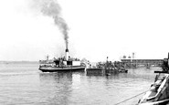 Gravesend, The West And Town Piers c.1950