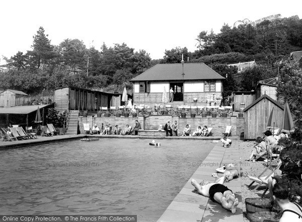 Great Malvern The Swimming Pool British Camp Hotel Francis Frith
