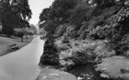 Harrogate, The Rock Gardens, Valley Gardens c.1955