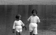 Hayle, Girls Paddling 1925