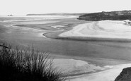 Hayle, Towans And Beach Showing Godrevy 1928