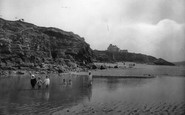 Hayle, Towans Pool And Beach 1925