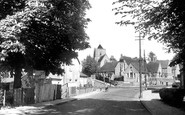 Haywards Heath, St Wilfrid's Church and the Schools c1950