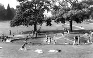 Haywards Heath, Victoria Park Paddling Pool c.1960