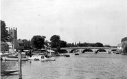 Henley-On-Thames, A River View c.1955