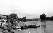 Henley-On-Thames, Landing Stage From Bridge c.1955