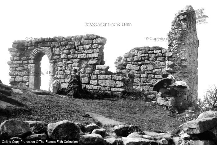 Heysham, St Patrick's Chapel Ruins, Heysham Head 1888