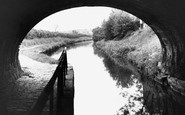 High Lane, Canal from under Road Bridge c1955