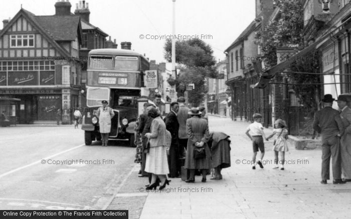 Hitchin, The Bus Stop c.1955