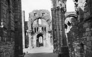 Holy Island, Lindisfarne Priory, Sandstone Pillar c.1960