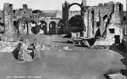 Holy Island, The Lindisfarne Priory c.1950